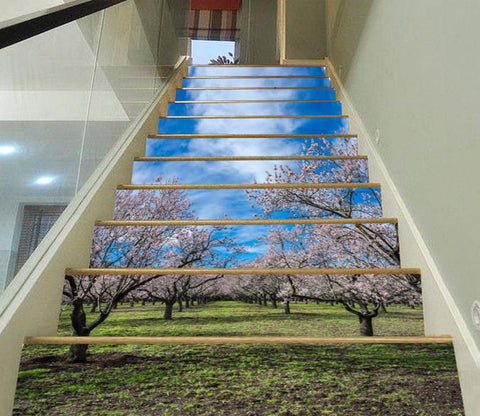 3D Flowering Trees 399 Stair Risers