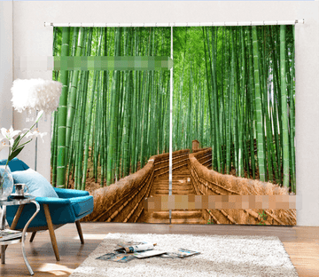 3D Bamboo Forest Stairway 2091 Curtains Drapes Wallpaper AJ Wallpaper