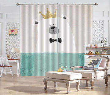 3D Lovely Bear 553 Curtains Drapes Wallpaper AJ Wallpaper