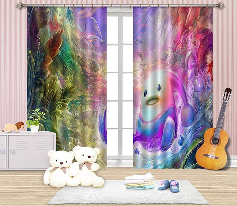 3D Bright Cartoon Role 2452 Curtains Drapes