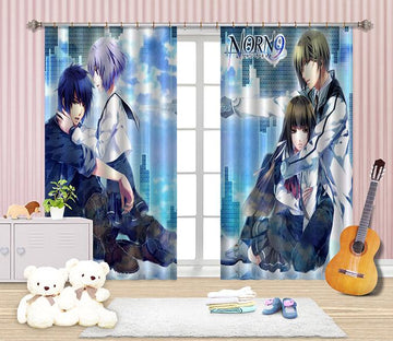 3D Anime Boys Girls 2420 Curtains Drapes