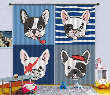 3D Lovely Dogs 2332 Curtains Drapes