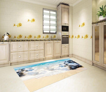 3D Beach Scenery 027 Kitchen Mat Floor Mural Wallpaper AJ Wallpaper