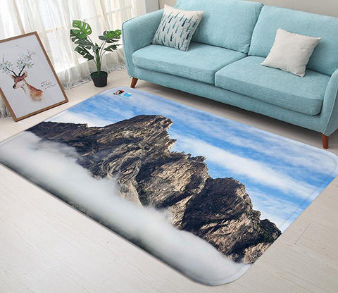 3D Bare Mountains 123 Non Slip Rug Mat
