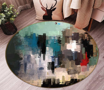 3D Abstract Painting 53 Round Non Slip Rug Mat