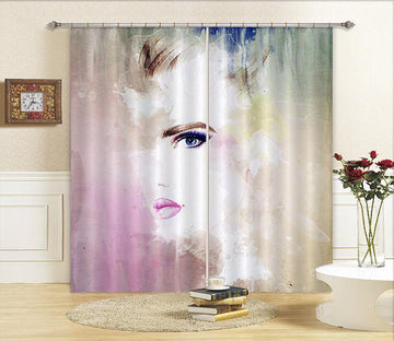 3D Graffiti Elegant Lady 655 Curtains Drapes
