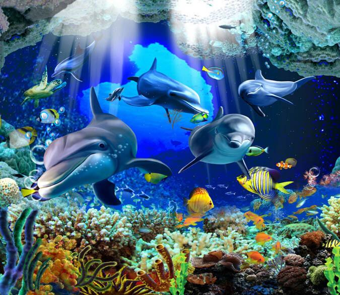 3D Pretty Ocean Floor Mural Wallpaper AJ Wallpaper 2