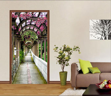 3D Aisle Flowers 78 Door Mural Wallpaper AJ Wallpaper