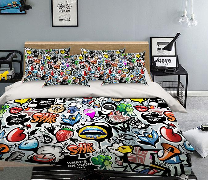 3D Cartoon Pattern 222 Bed Pillowcases Quilt