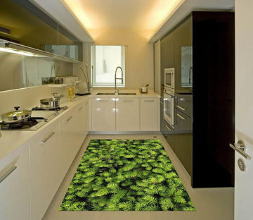 3D Coniferous Trees Kitchen Mat Floor Mural