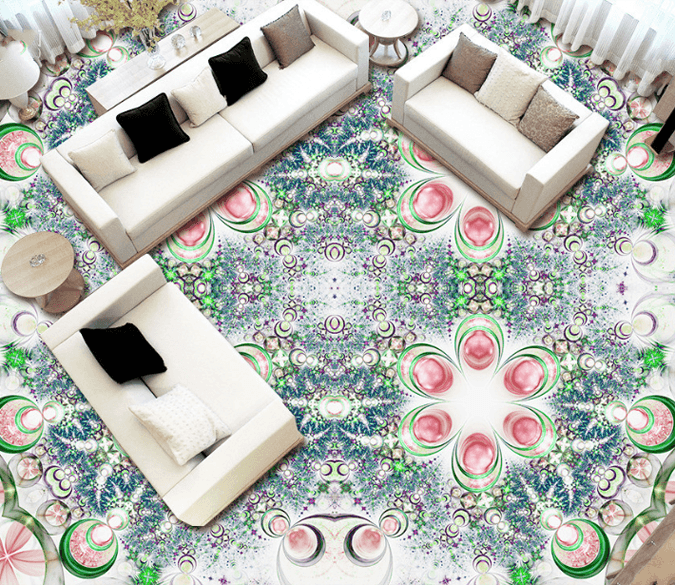 3D Dreamy Flowers Floor Mural Wallpaper AJ Wallpaper 2