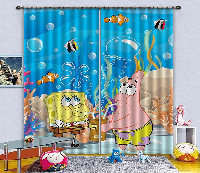 3D Cartoon For Kids 2309 Curtains Drapes