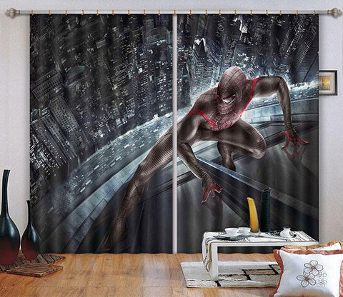 3D City Building Hero 2477 Curtains Drapes