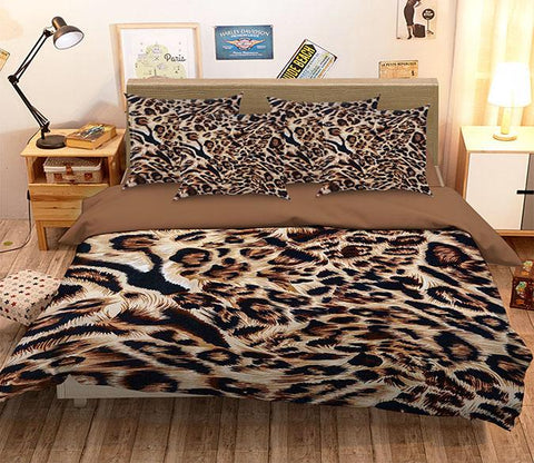 3D Leopard Fur Pattern 262 Bed Pillowcases Quilt