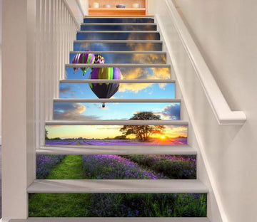 3D Flowers Field 117 Stair Risers Wallpaper AJ Wallpaper