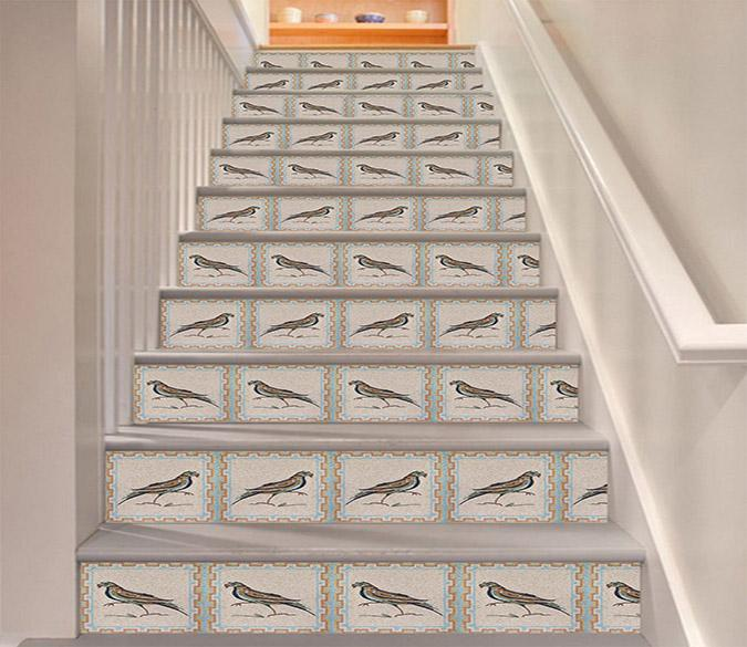 3D Bird Pattern 1681 Stair Risers