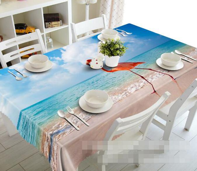 3D Beach Bird 1147 Tablecloths Wallpaper AJ Wallpaper