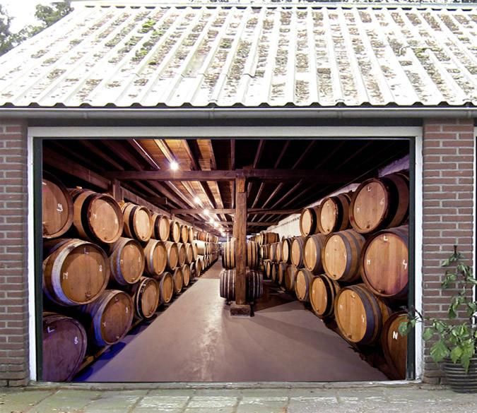 3D Big Wine Cellar 344 Garage Door Mural