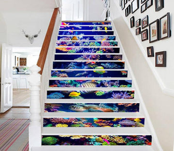3D Colorful Ocean World 787 Stair Risers Wallpaper AJ Wallpaper