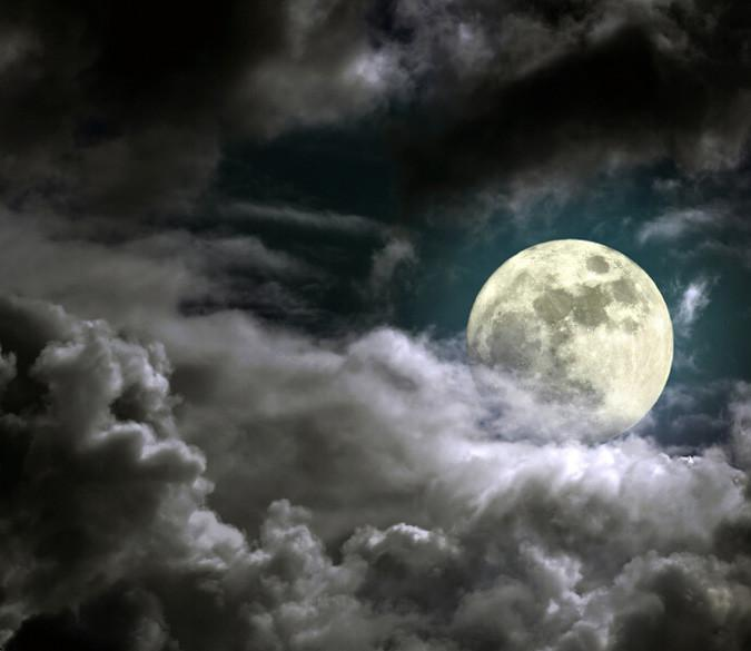 Cloudy Full Moon 1 Wallpaper AJ Wallpaper