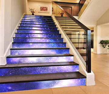 3D Shining Stars Sky 1007 Stair Risers Wallpaper AJ Wallpaper