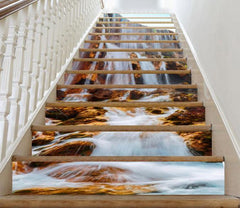 3D Waterfall Scenery 693 Stair Risers
