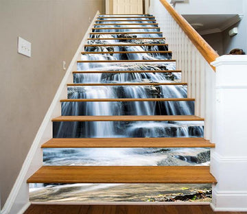 3D Flowing Waterfall 1592 Stair Risers Wallpaper AJ Wallpaper