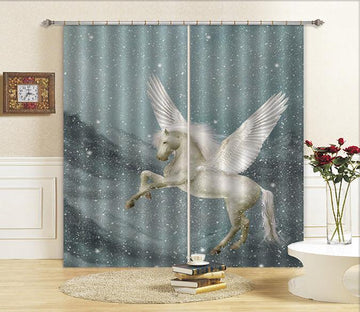 3D Horse Wings 676 Curtains Drapes