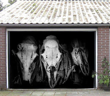 3D Aniamls Skulls 335 Garage Door Mural Wallpaper AJ Wallpaper