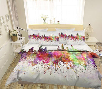 3D Graffiti City 77 Bed Pillowcases Quilt Wallpaper AJ Wallpaper