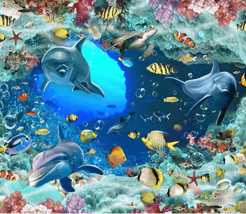 3D Mysterious Ocean Floor Mural Wallpaper AJ Wallpaper 2
