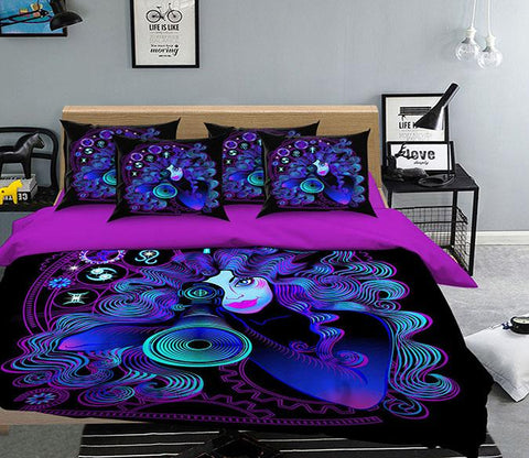 3D Gemini 306 Bed Pillowcases Quilt