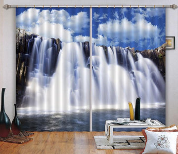 3D Abundant Waterfall Curtains Drapes Wallpaper AJ Wallpaper