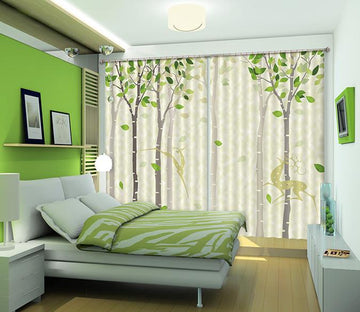 3D Animals Trees Pattern 448 Beach Curtains Drapes Wallpaper AJ Wallpaper