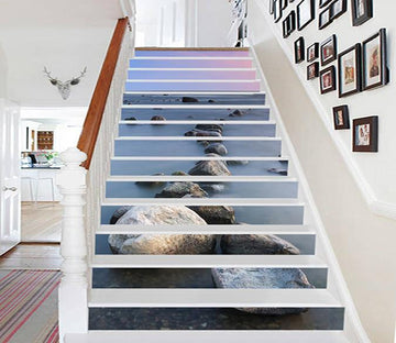 3D Vast Sea Stones 863 Stair Risers Wallpaper AJ Wallpaper