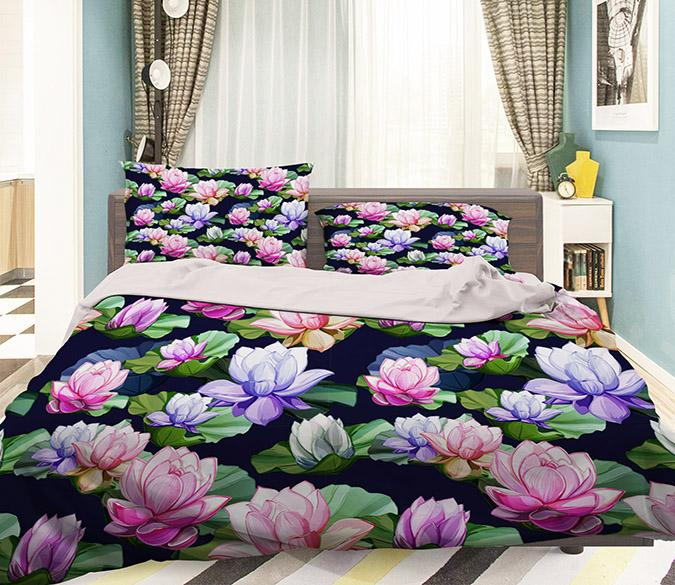 3D Colorful Flowers 178 Bed Pillowcases Quilt