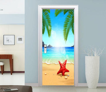 3D Beach Starfish 51 Door Mural Wallpaper AJ Wallpaper