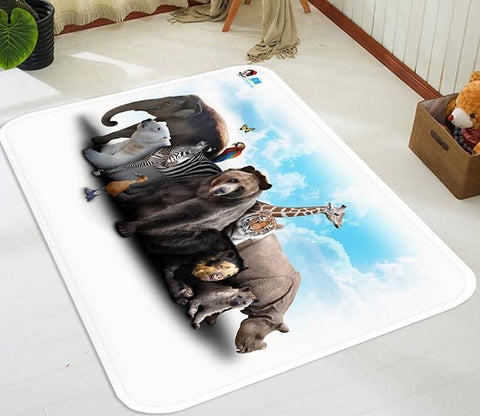 3D Animals 64 Non Slip Rug Mat