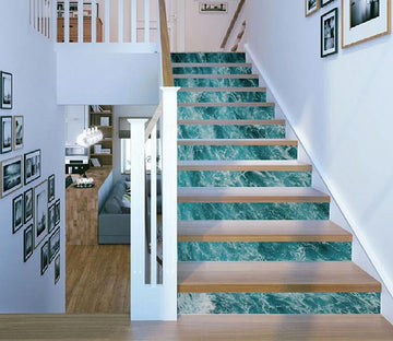 3D Blue Sea Ripples 881 Stair Risers Wallpaper AJ Wallpaper