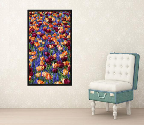 3D Flower Sea 048 Fake Framed Print Painting