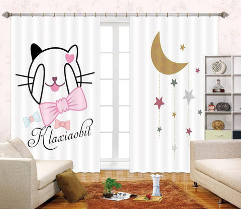 3D Lovely Cartoon Panda 2445 Curtains Drapes