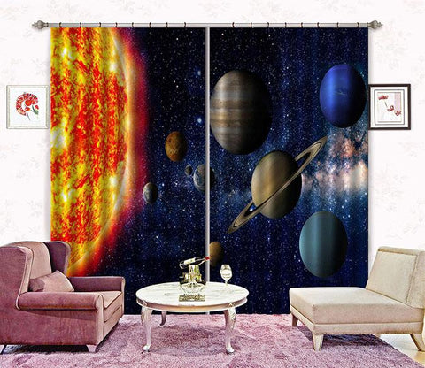 3D Space Scenery 2483 Curtains Drapes