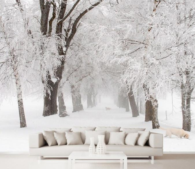 Beautiful Snow Landscape Wallpaper AJ Wallpaper
