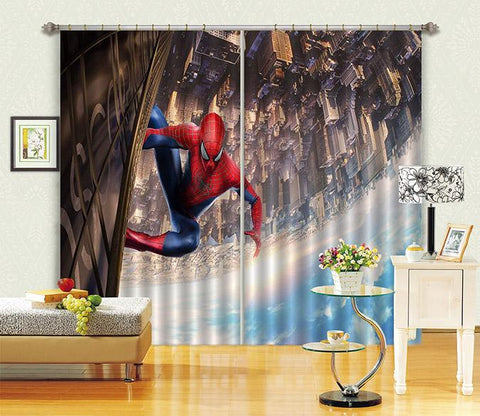 3D City Hero 2461 Curtains Drapes