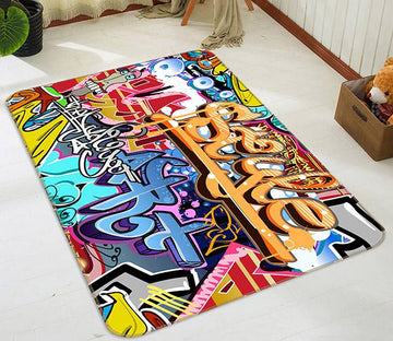 3D Graffiti Word 154 Non Slip Rug Mat Mat AJ Creativity Home