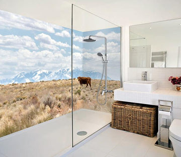 3D Alpine Pasture Scenery 21 Bathroom Wallpaper