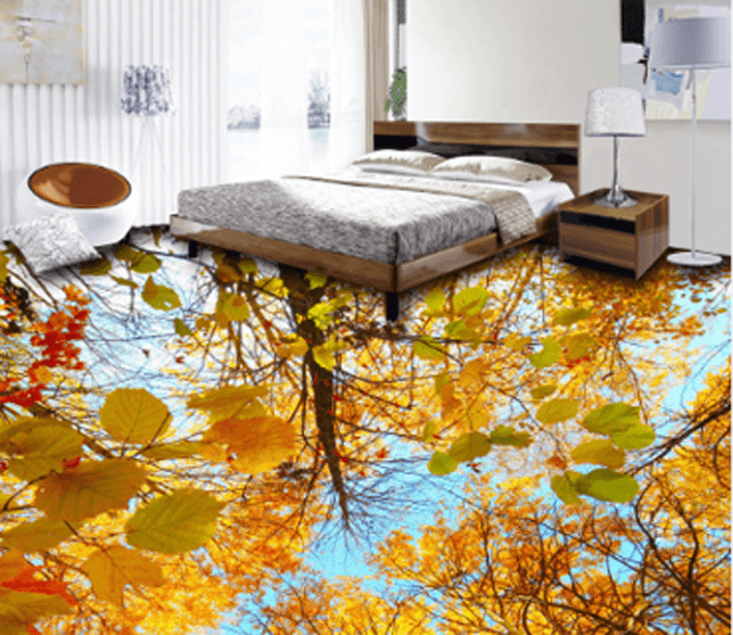 3D Orange Trees Floor Mural Wallpaper AJ Wallpaper 2