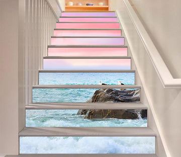 3D Seaside Birds 775 Stair Risers Wallpaper AJ Wallpaper