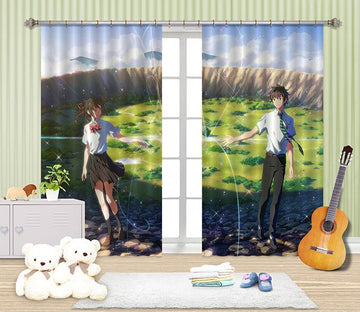 3D Boy And Girl 2417 Curtains Drapes