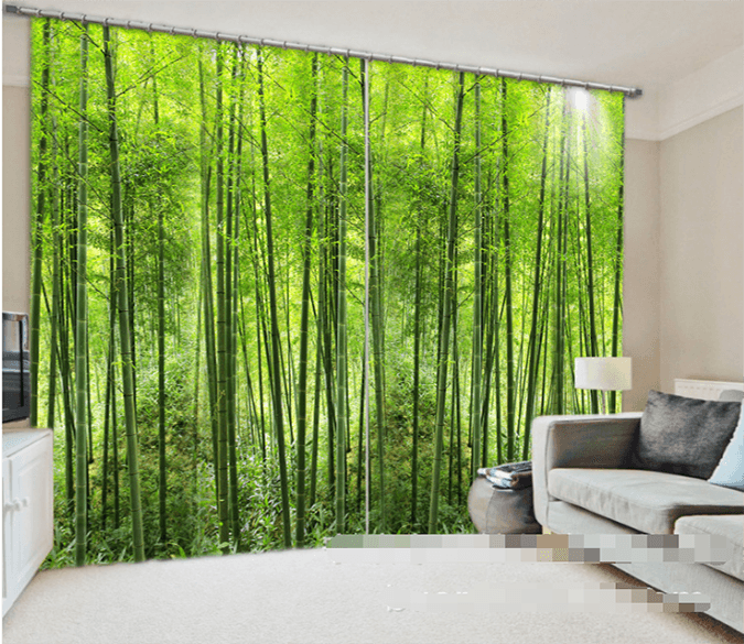 3D Bamboo Forest 952 Curtains Drapes